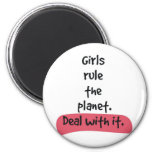 girls rule the planet refrigerator magnet