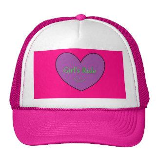 girl's rule trucker hat
