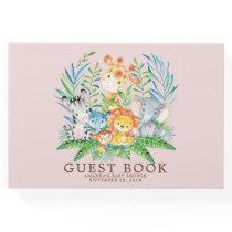 Girls Safari Jungle Baby Shower Guest Book