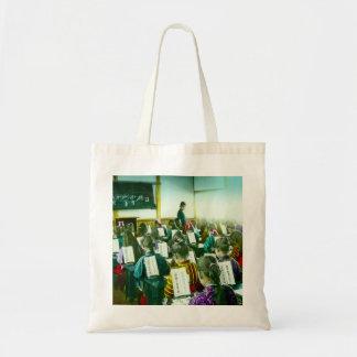 Girls School in Old Japan Vintage Classroom Tote Bag