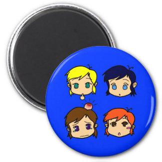 Girls SD 2 Inch Round Magnet