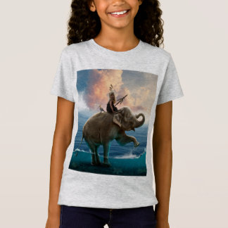 Girl's shirt with elephant design in the is