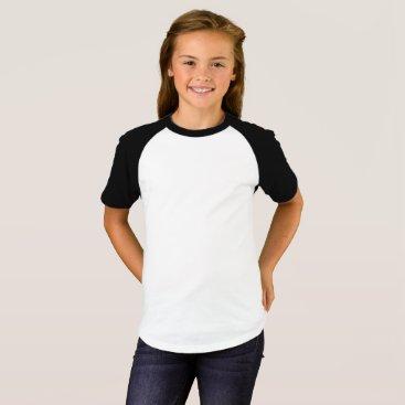 Beach Themed Girls' Short Sleeve Raglan T-Shirt