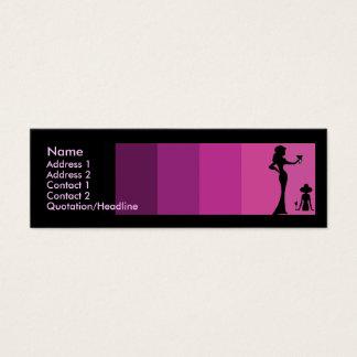 Girls Silhouette Toasting Skinny Mini Business Card