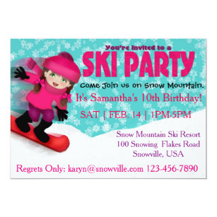 Ski Party Invitations Announcements Zazzle