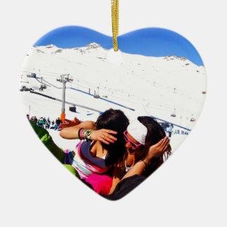 Girls Ski slope Ornament