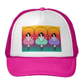 Girls skip rope trucker hat