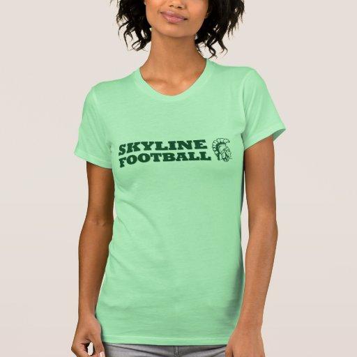 Girls Skyline Spartan Football T-Shirt