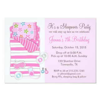 Girls Slumber Party Invitations Announcements Zazzle
