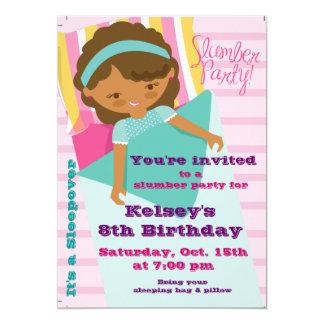 "Girls Sleepover Pajama Slumber Party Invitation 5"" X 7"" Invitation Card"