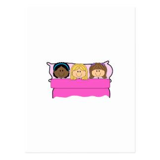GIRLS SLEEPOVER POSTCARD