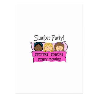 GIRLS SLUMBER PARTY POSTCARD