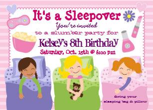 Pajama party invitations zazzle girls slumber party sleepover pajama invitation filmwisefo
