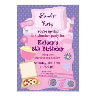 Slumber Party Invitations Announcements Zazzle