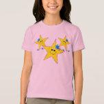 Girl's Smiley Stars T-shirt