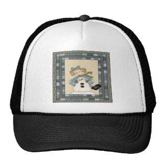 Girls Snowman Trucker Hat
