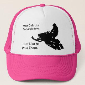 Girls Snowmobile Trucker Hat