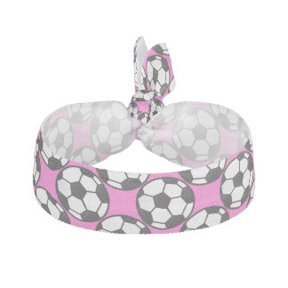 Girls Soccer Balls Hair Tie