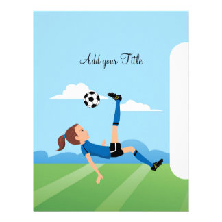 "Girl's Soccer Cover Page 8.5"" x 11"""