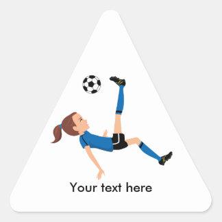 Girl's Soccer Kick Sticker
