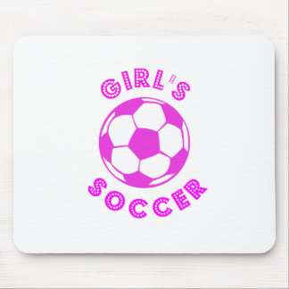 Girl's Soccer Mouse Pad