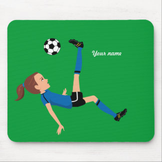 Girl's Soccer Mousepad Personalized