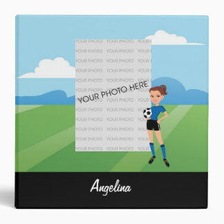 Girl's Soccer Player Binder Personalized