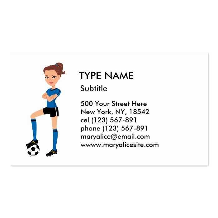 Girl's Soccer Player Calling Card P