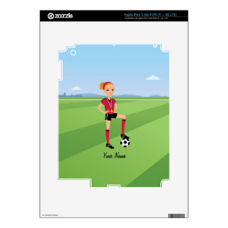Girl's Soccer Player Ipad Skin