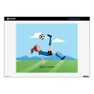 Girl's Soccer Player Laptop Skin
