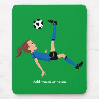 Girl's Soccer Player Mousepad