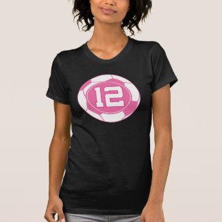 Girls Soccer Player Number 12 Gift T-Shirt