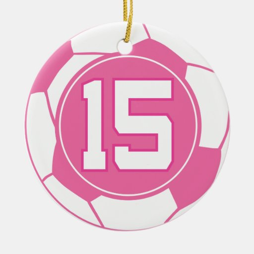 Girls Soccer Player Number 15 Gift Christmas Ornament