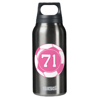 Girls Soccer Player Number 71 Thermos Bottle