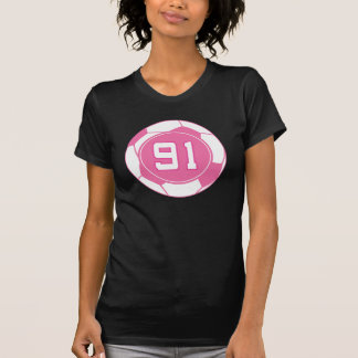 Girls Soccer Player Number 91 Gift Tshirts