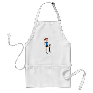 Girl's Soccer Player Personalized Adult Apron