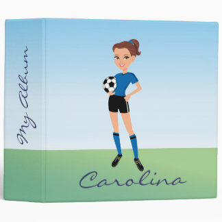 Girl's Soccer Player Personalized Binder