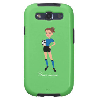 Girl's Soccer Player Personalized Samsung Galaxy SIII Covers