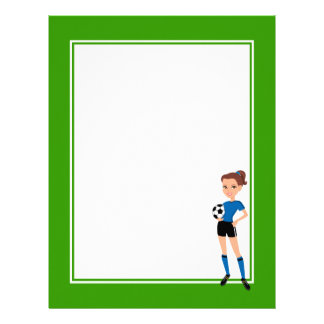 Girl's Soccer Player Personalized Letterhead