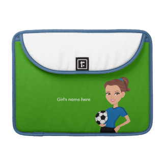 Girl's Soccer Player Personalized MacBook Pro Sleeves