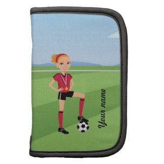 Girl's Soccer Player Personalized Organizers