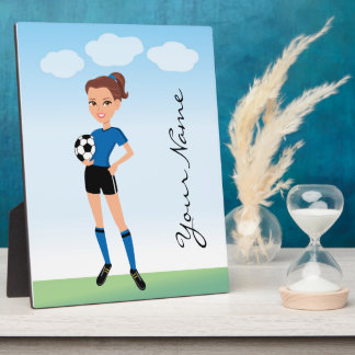 Girl's Soccer Player Personalized Plaque