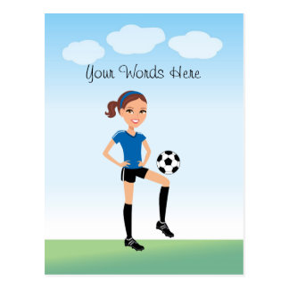 Girl's Soccer Player Personalized Postcard