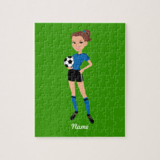 Girl's Soccer Player Personalized Puzzles