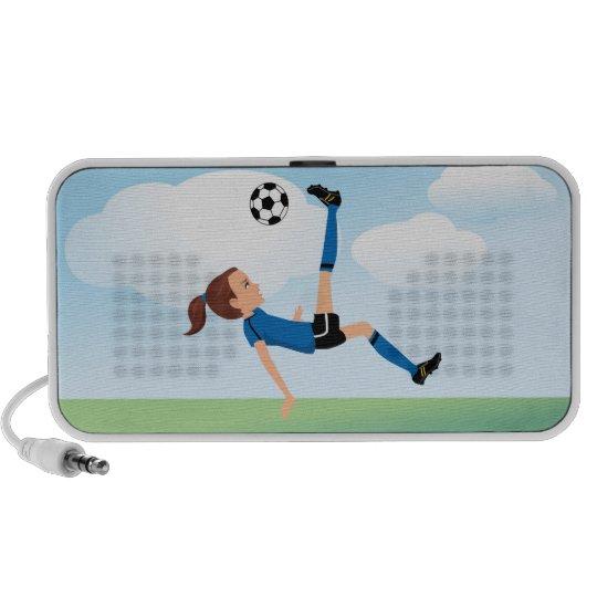 Girl's Soccer Player Portable Speaker