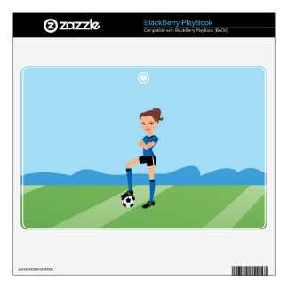Girl's Soccer Player Skin Personalized BlackBerry Decals