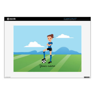 Girl's Soccer Player Skin Personalized Decals For Laptops