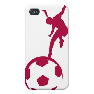 Girls Soccer Red Cases For iPhone 4