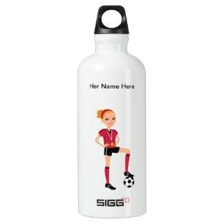 Girl's Soccer Rugged Aluminum Water Bottle
