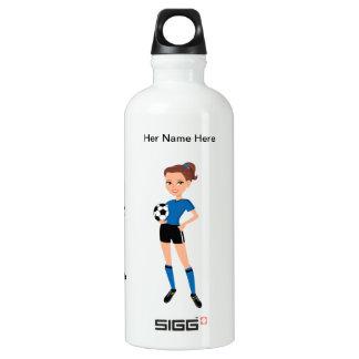 Girl's Soccer Rugged Illustrated Aluminum Water Bottle